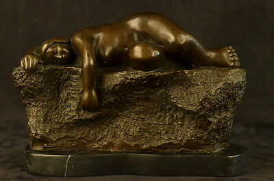 Bronze Sculpture Figure Abstract Modern Art Sleeping Female By Bote Statue