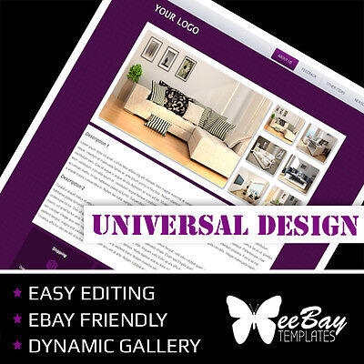 Professional eBay Auction Listing Template 9f Universal New Design Custom HTML