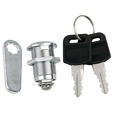 Stainless Steel Cam Lock with 2 Keys for Cabinet Mailbox Drawer Cupboard Locker