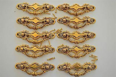 10 Victorian brass folliage drawer handle draw pull desk chest cabinet 2026