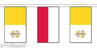 Poland  & Vatican City Polyester Flag Bunting - 5m with 14 Flags