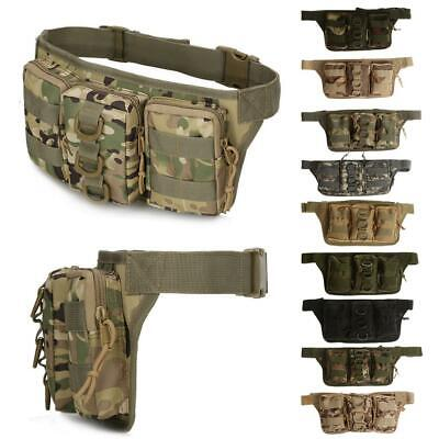 Tactical Molle Pouch Belt Waist Fanny Pack Riding Cycling Hiking Military Bag