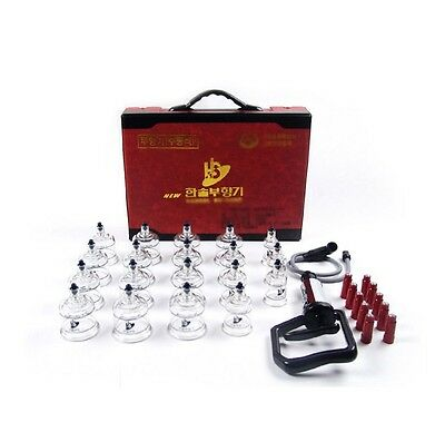 [Hansol] New Original 19PCS Cups Massage Professional Cupping Vacuum Therapy SET