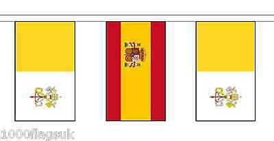 Spain & Vatican City Polyester Flag Bunting - 10m with 28 Flags