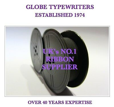 1 x 'DELUXE 850TR' *PURPLE* TOP QUALITY *10 METRE* TYPEWRITER RIBBON + *EYELETS*