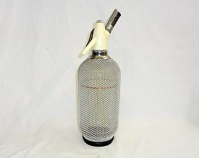 Vintage Soda Siphon White Glass Antique Syphon Seltzer bottle