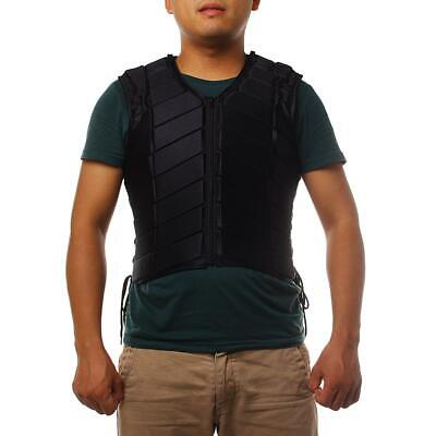 Black Safety Equestrian Horse Riding Vest Protective Body Guard Protector S-XXXL