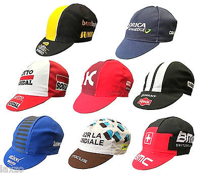 Cycling Bike Cycle Team Cotton Caps Retro Pro Team Fixed Gear Made In Italy
