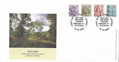 (89148) GB England FDC 68p E 1st 2nd - London 14 October 2003