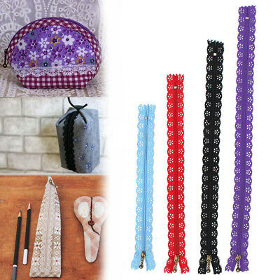 10X 20-35cm Lace Closed End Zippers Nylon For Purse Bags Multicolor DIY Sewing