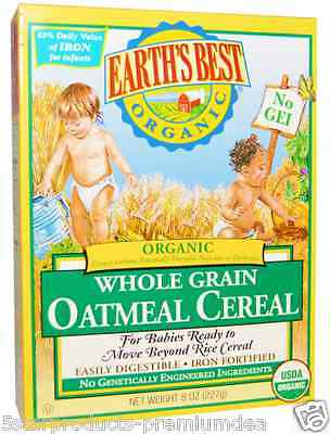 New Earth's Best Organic Whole Multi Cereal Oatmeal Infants Daily Grow Care