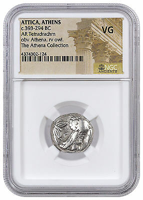 Greek City-State Athens Silver Tetradrachm Athena Collection NGC VG SKU42584