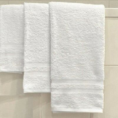 3 New White Soft 100% Cotton Hotel Gold Collection Bath Towels 24X48 Salon Spa