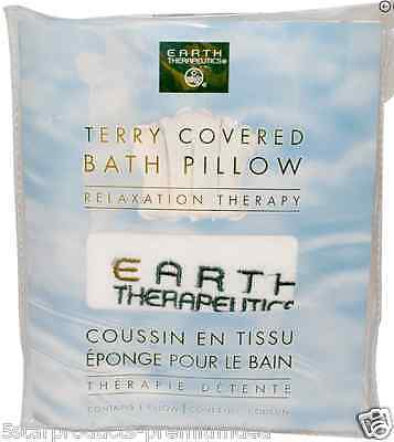 New Earth Therapeutics Terry Covered Terry Covered Bath Pillow Relaxation Daily