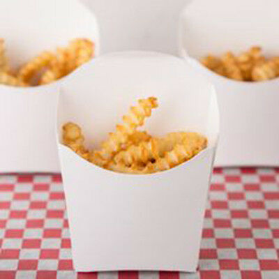 58 White Paper French Fry Scoop Cups