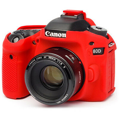 easyCover Canon 80D Protective Camera Cover RED Silicone case Free Shipping