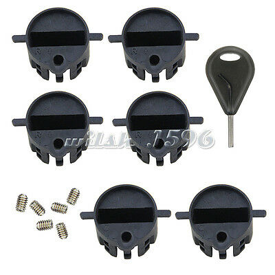 6pcs/Set FCS Surf Fins Plug with Screws Plastic Surfboard Fin Box with a Fin Key