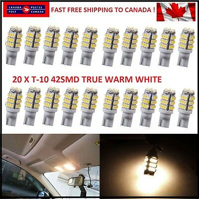 20X Warm White T10/921/194 RV Trailer 42-SMD 12V Backup Reverse LED Lights Bulbs