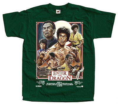 Enter The Dragon Bruce Lee  T shirt GREEN All Sizes S - 5XL x