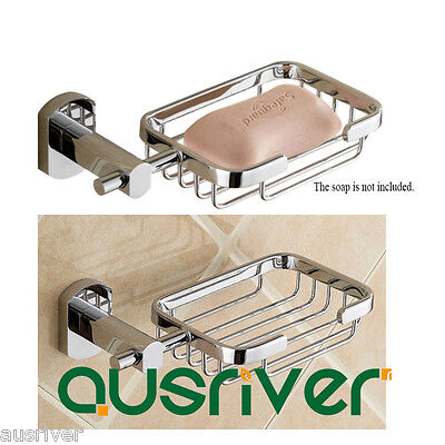 Wall Mounted Soap Dish Holder Basket Tray Bathroom Bath Shower Brass Material