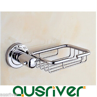 Wall Mounted Soap Holder Basket Tray Bathroom Bath Shower 304 Stainless Steel