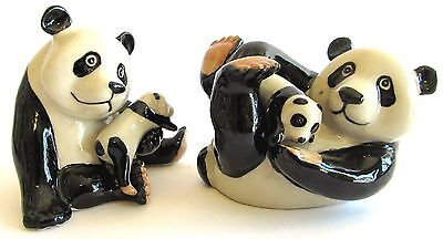 Panda & Babies Ceramic Salt & Pepper Shakers
