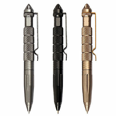 Tactical MultiFunction Pen Emergency Martial Arts Glass Breaker Outdoor Survival