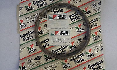 "New Lister CS Piston Ring Set 8/1 etc 0.040"" oversize for Chrome Bores 574-10980"