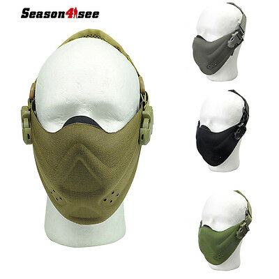 Airsoft Tactical Military CS Outdoor hunt Cycling Half Face Protector Mouth Mask