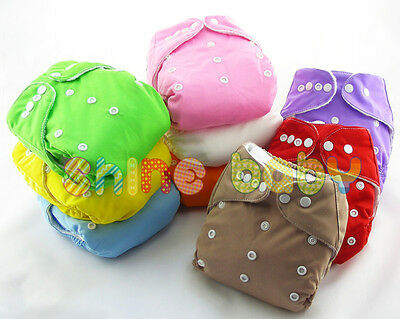 Infant Reusable Washable Baby Cloth Diapers Nappy Cover Adjustable Insert Lot