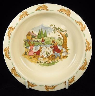 Royal Doulton Bunnykins 'Fishing in the River' Baby Bowl
