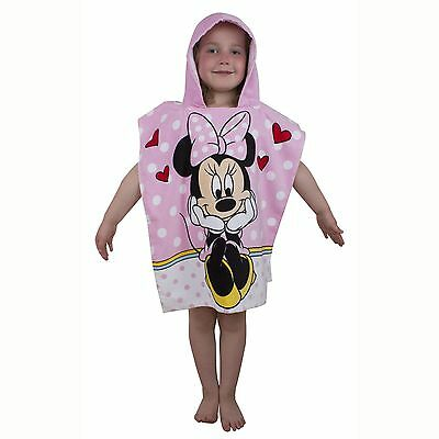 Pink Minnie Mouse Hooded Poncho Beach Bath Towel New Official Merchandise