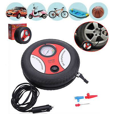 12V Portable Mini Air Compressor Wheel 260PSI Tyre Inflator Pump Car Cigarette