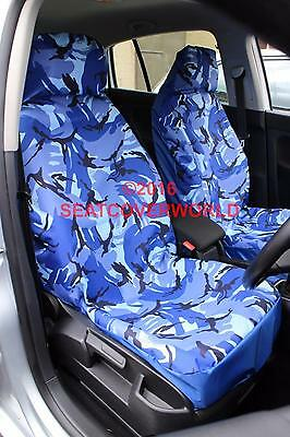 1998-04 Grey Camouflage Waterproof Car Seat Covers 2 Fronts Mercedes A Class