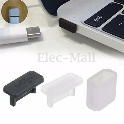 1-10x Rubber USB Type C Anti Dust Protect Cover For Macbook OnePlus LG G5 HTC 10