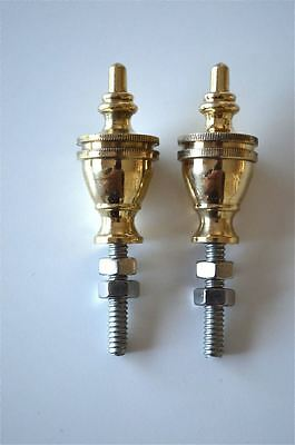 A pair of superb quality antique brass furniture or clock finials 2013