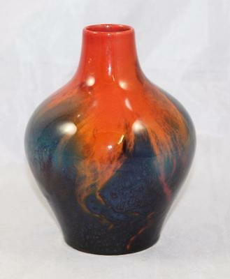 Royal Doulton Sung Flambé Bulbous Vase by Fred Moore