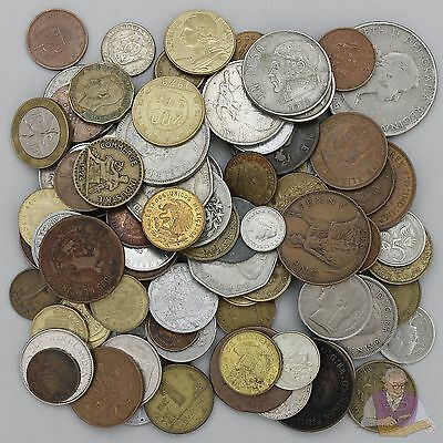 World Coins Full Pound Lot Foreign Assortment Some Older Dates