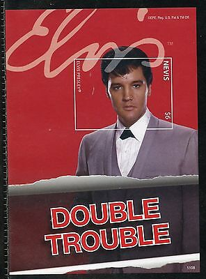 Nevis  Elvis Presley Double Trouble Imperforate Souvenir Sheet I Mint Nh