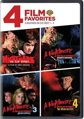 Nightmare on Elm Street 1-4: 4 Film Favorites [2 Discs] (2009, DVD NEW)