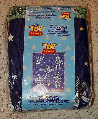 Toy Story RARE Buzz Lightyear Triple Layer Jaquard Woven Throw!