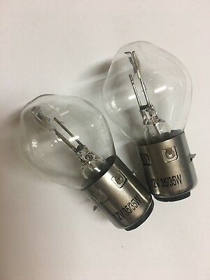 A Pair Of S2 12V 35/35W Headlight Bulb,works On Atv,go Kart,scooter,motorcycle