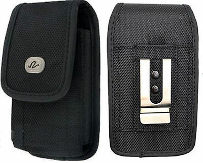 Vertical Heavy Duty Nylon Rugged Canvas Holster Case FOR TracFone LG Phones