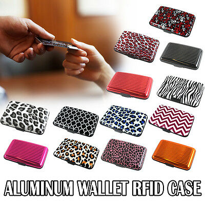 USA Aluminum Metal Wallet Billfold RFID Case Men Women Credit Card ID Holder