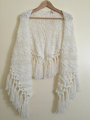 New Knit Scarf For Woman White Msrp 48
