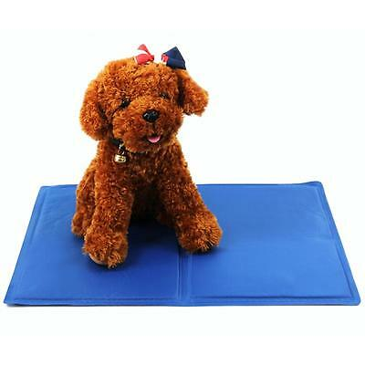Blue Ice Cool Mat Pet Dog Cat Cooling Bed Ice Pad Cushion Summer Cool Pad