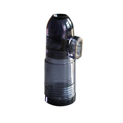 Stylish Snuff Bottle Ultimate Bullet Acrylic Clear with Clear Bottoms