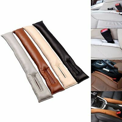 Universal Car PU Leather Car Seat Gap Filler Holster Spacer Leakproof Pad New