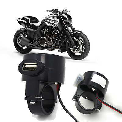 USB Waterproof  Motorcycle Mobile Phone Power Supply Charger Port Socket 12V