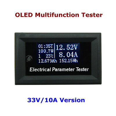 7in1 Digital LED OLED Electrical Parameter Meter Power Energy Voltmeter Ammeter
